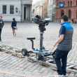 Stock Photo: Film making