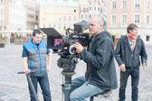 Cameramen with their equipment — Stock Photo