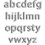 Digital pixel alphabet font design vector set — Stock Vector