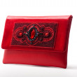The red women clutch bag — 图库照片