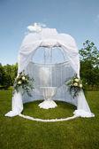 Wedding tent in park — Stock Photo