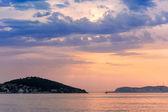Mar de mármara ao longo do pôr do sol — Fotografia Stock