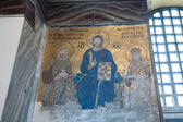 Byzantine mosaic showing Jesus Christ — Stock Photo