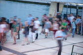 People on the berth — Stock Photo