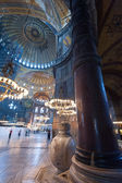 Ancient Hagia Sophia interior — Stock Photo