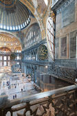 Ancient Hagia Sophia interior — 图库照片