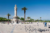 Izmir Historical clock tower — Stock Photo