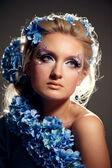 Fashion Blond Model Portrait — Stock Photo