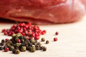 Chop meat  and pepper — Stock Photo