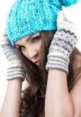 Fashion winter woman — Foto Stock
