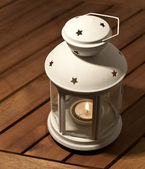 Lamp with candle — Stock Photo
