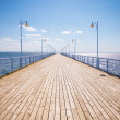 Stock Photo: Summer time at wooden pier