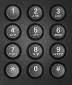 Telephone keypad with round buttons — Stock Photo