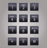 Telephone keypad with square buttons — Stock Photo