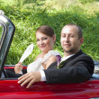 Couple in car — Stock Photo #15357519