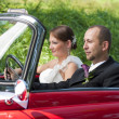 Couple in car — Stock Photo