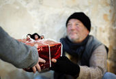Homeless christmass — Stock Photo