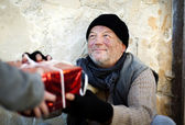 Homeless christmass — Stock Photo