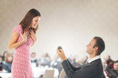 Proposal scene — Stock Photo