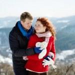 sneeuw liefde — Stockfoto