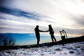 Snow love — Stock Photo