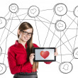 Internet love — Stock Photo