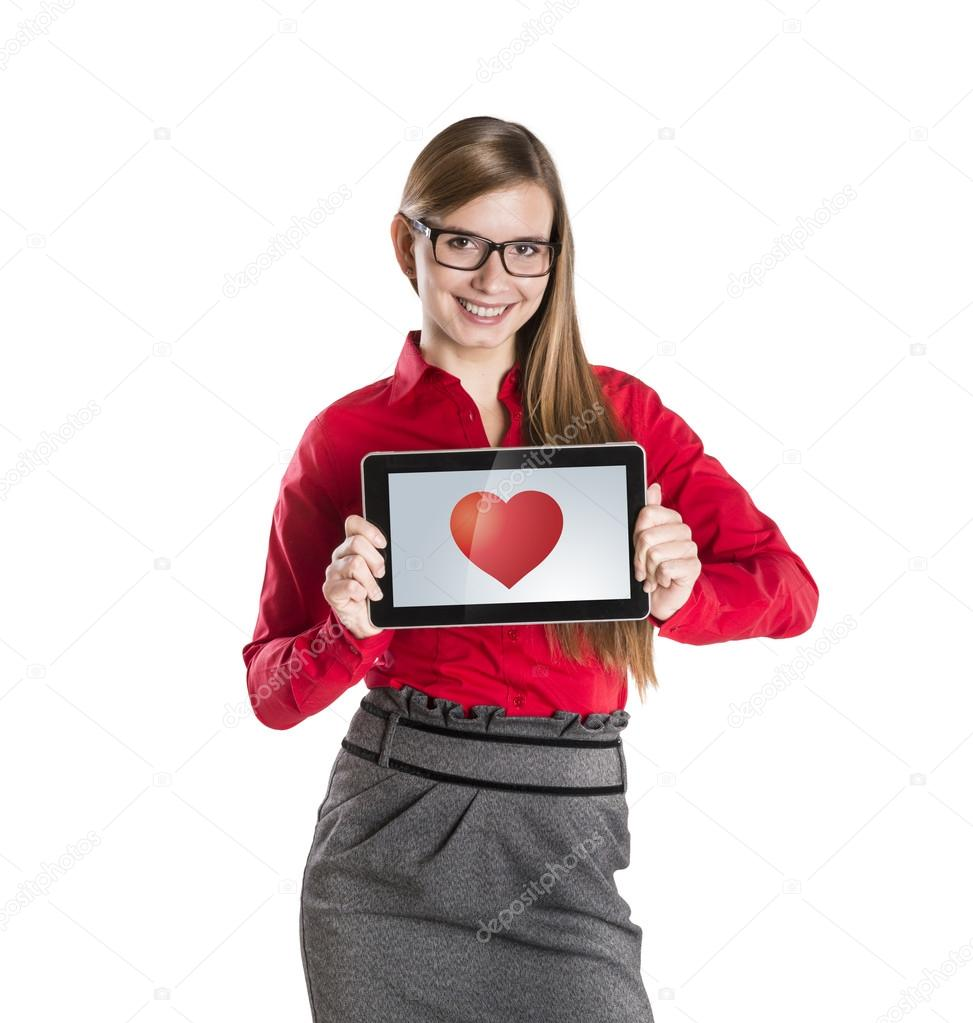 Funny love in social media and internet communication. — Stock Photo #19635311