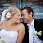 Wedding outdoor portraits — Stock Photo #19672615