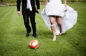 Bröllop utomhus porträtt — Stockfoto