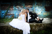 Mariage portraits en plein air — Photo