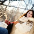 Winter Pregnancy — Stock Photo