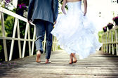 Krásné svatební pár — Stock fotografie