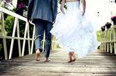 Lindo casal de noivos — Foto Stock