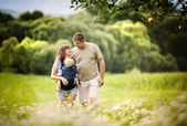 Family on the farm — Stock Photo