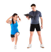 Entrenador de fitness — Stockfoto