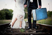 Wedding feet — Stock Photo