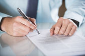 Business contract — Stockfoto