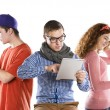 Young with tablets — Stock Photo