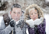 Couple in winter — Fotografia Stock