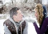 Couple in winter — Stock Photo
