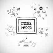 Comunicación de internet — Vector de stock