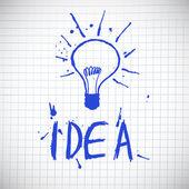 Idea vector illustration — Stock Vector