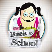 Tillbaka till skolan — Stockvektor