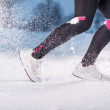 Woman running in winter — Stock Photo #29201317