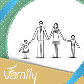Family illustration — Stock Vector