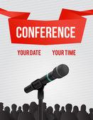 Konferenz-abbildung — Stockvektor