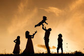 Family in nature — Foto Stock