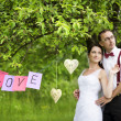 Beautiful wedding couple — Stock Photo