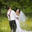Beautiful wedding couple — Foto Stock