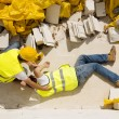 Stock Photo: construction accident